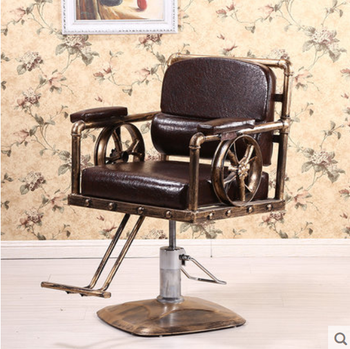 Iron Antique barber chair hairdresser chair hairdresser chair hairdresser chair barber shop chair - DISCOUNT ITEM  27 OFF Furniture