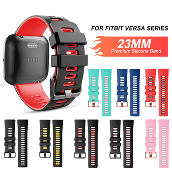 For Fitbit Versa Silicone Strap Watch Band 23 mm Compatible for Versa 2/Versa/Versa Lite Edition&Versa Special Edition