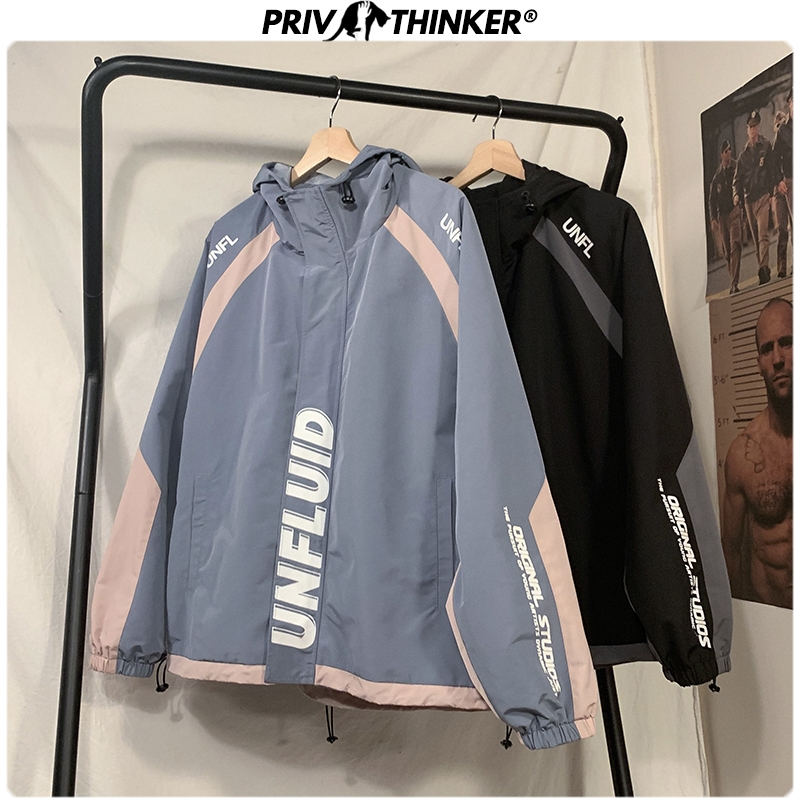 Privathinker Men Spring Safari Style Casual Jackets 2020 Men's Korean Fashion Jacket Clothes Male Spring Hooded Coat Oversize