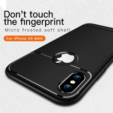 GerTong Ultra-thin Black Carbon Fiber Case for iPhone 6S 7 6 8 Plus Xs Max XR Soft TPU Capa for iPhone X 7Plus Cover Phone Coque rock ultra thin tpu soft case for iphone 7plus transparent black