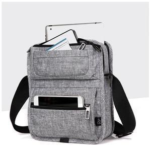 Image 3 - CAI sac à bandoulière multi poches pour tablette, Mini décontracté sacs décole pour adolescents garçons, sacs à main Fashion
