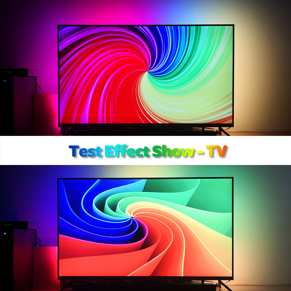 cheapest 1 2 3 4 5m Ambilight TV LED Strips USB Full set Led Light Tape HDTV Computer Dream Screen Monitor Backlight DIY RGB Strip Kit