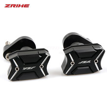 With YZF logo Motorcycle cnc aluminum frame Crash Pads Engine Case Sliders Protector For Yamaha R6 r6 2006-2015 cnc frame crash pad engine case stator sliders protector for yzf r6 2006 2007 motorcycle
