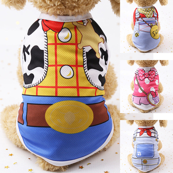 Cheap Cartoon Pet Dog Clothes For Small Dogs Summer Clothes Breathable Chihuahua Clothes T Shirt Dog Clothes For Small Dogs Girl image