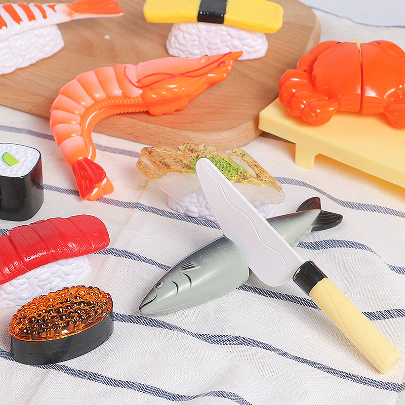 Pretend Play <font><b>Toy</b></font> Simulation Cut Seafood <font><b>Kitchen</b></font> <font><b>Toy</b></font> Children Interactive Game Miniature Food <font><b>Kitchen</b></font> <font><b>Set</b></font> for Kids image