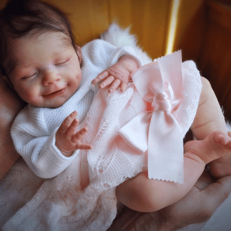 Rbg kit renascer 20 polegadas reborn bebê vinil boneca kit abril unpainted unmounted inacabado peças de boneca diy em branco reborn boneca kit