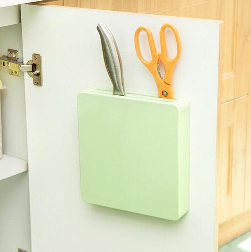 Hidden Plastic Knife Organizer Storage Rack Tool Holder Kitchen Accessories Blocks & Roll Bags     -