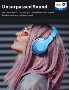 Image 3 - היברידי פעיל רעש ביטול Bluetooth V5.0 אוזניות עם מיקרופון Earpads SBC APT X 40mm נהג אלחוטי Wired אוזניות
