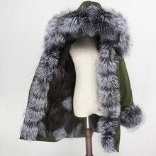 Oftbuy 2020 防水パーカー冬のジャケットの女性本物の毛皮のコートキツネの毛皮の襟フードキツネの毛皮ライナー暖かいストリート着脱式新しい
