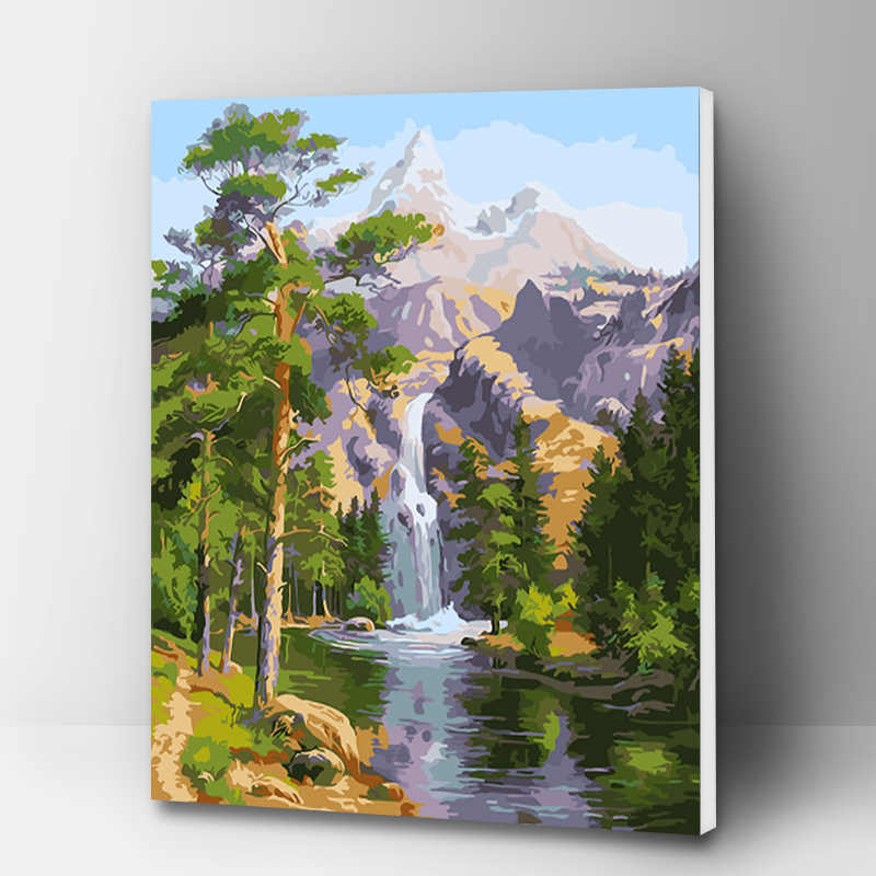 Nature Landscape 40 x 50 cm Painting By Numbers Kit On Canvas
