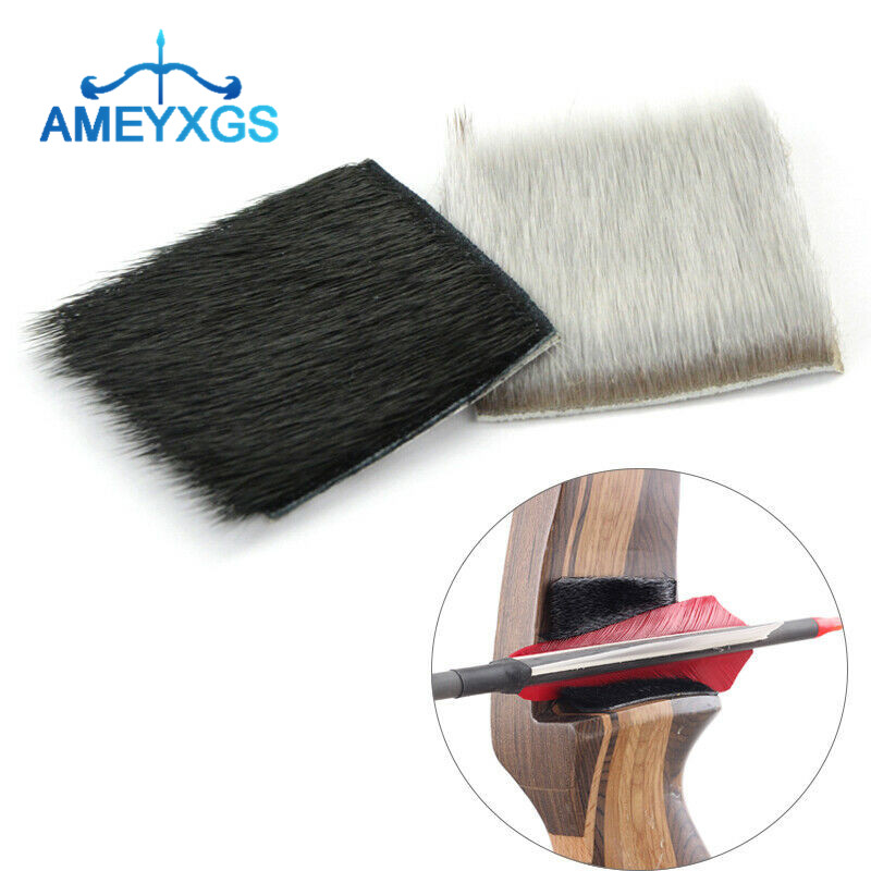 Archery Fur Arrow Rest Leather Adhesive Traditional Recurve Bow Shooting Hunting