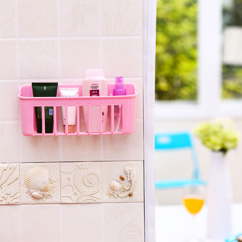 1pcs Plastic Sink Storage Basket Organizer Dishwash Sponge Drain Shelf Kitchen Suction Cup Rack For Bathroom Kitchen Accessories
