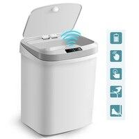 15L Thuis Intelligente Prullenbak Automatische Inductie Elektrische Afvalbakken Kick Vat Batterij Versie Prullenbak|Afvalbakken|   -