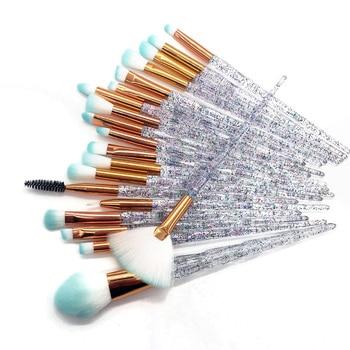 20pcs Diamond Makeup Brush Set Eye Brush Beauty Tools Fan Powder Eyeshadow Contour Beauty Cosmetic Colorful For Make Up Tool 1