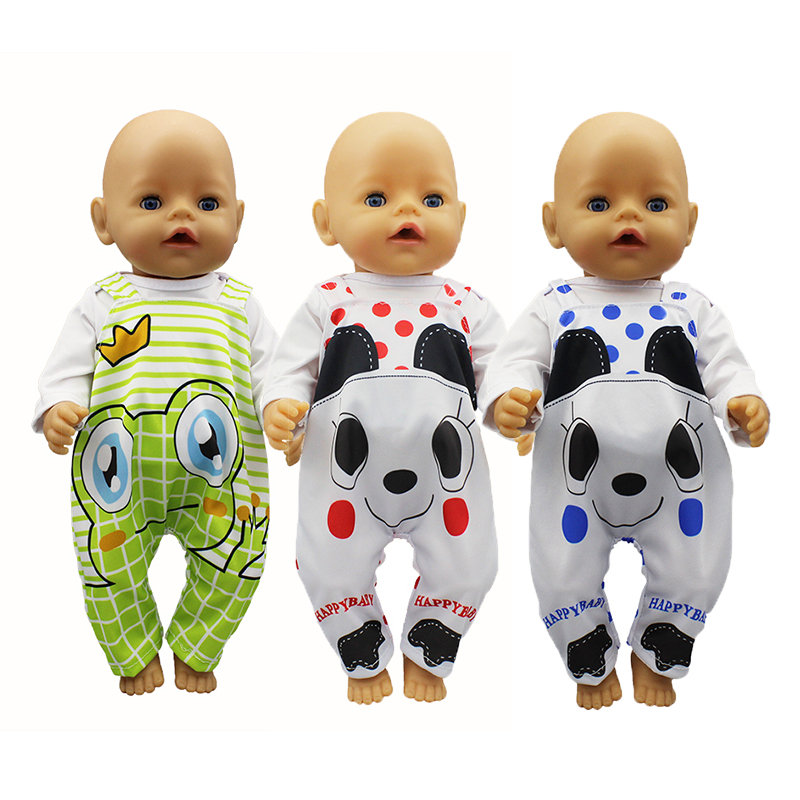 New Fashion Jumpsuit Doll Clothes Fit For 43cm Reborn Baby Doll Accessories