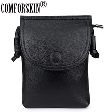 COMFORSKIN Premium 100% Genuine Leather Ladies Cell Phone Bags Fashion Brand Women Messenger Bag Female Cross-body Bag Hot Sales geb111 battery pack for leica surveying instrument