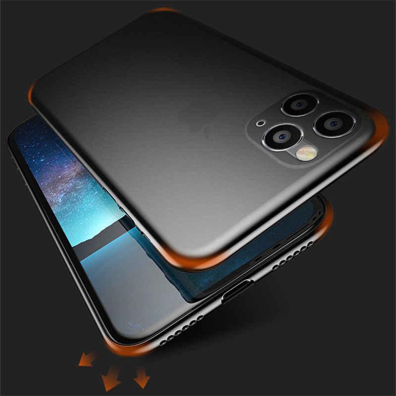 Lovebay 0.26mm Ultra Thin מט טלפון מקרה עבור iPhone 7 8 6 6s בתוספת 11 פרו X XR XS מקס 5S SE שקוף עמיד הלם Slim כיסוי
