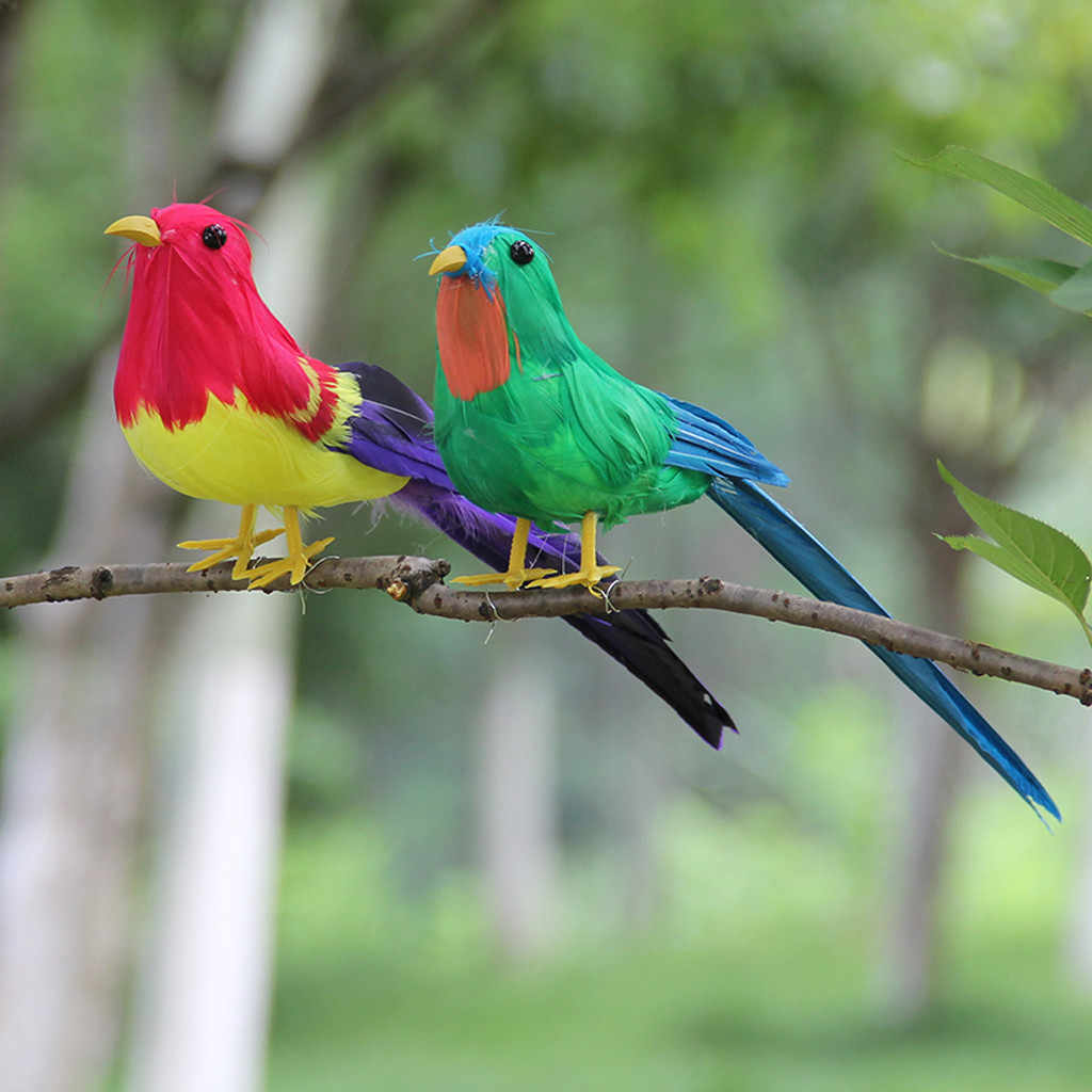 Моделирование попугаев для украшения сада красочные поддельные попугаи Искусственные Птицы Модель Открытый Дом Сад газон дерево декор #821Y40