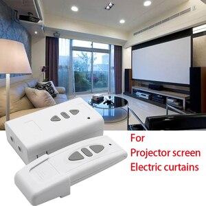 Image 1 - Télécommande sans fil 433MHz et récepteur de réception récepteur 433mhz pour rideau électrique/écran de projecteur