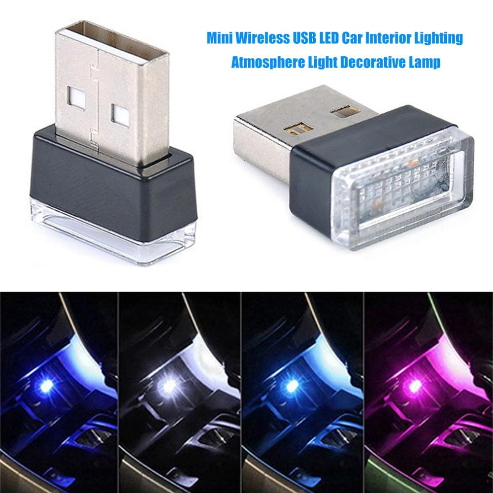 Portable Car Foot Ambient Lamp USB LED AutoAmbient Atmospheree Night Light Multiple Automotive Interior Decorative Lights