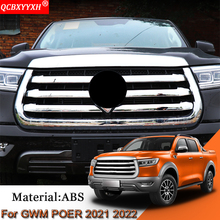 Car Styling Car Front Grille Hood Engine Cover Trim External Sequins Sticker Protector Accessories For Great Wall POER 2021 2022