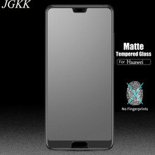 JGKK Matte  Tempered Glass For Huawei P Smart P9 P8 Lite 2017 Frosted Screen Protector For P20 Pro P10 Lite Plus Protective Film protective matte frosted pet screen protector film guard for htc t328d transparent