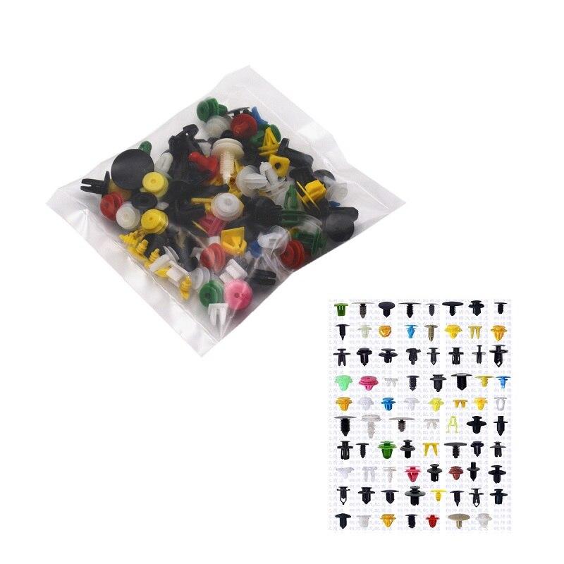 Clipe rebite de plástico para carros, clipe amortecedor para veículos, fixador automático para automóveis, rebite, porta, painel, forro, 100 peças