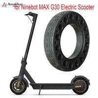 Pneu durável para pneu de scooter ninebot max g30 furo sólido pneus amortecedor não-pneumático amortecimento pneus de borracha roda