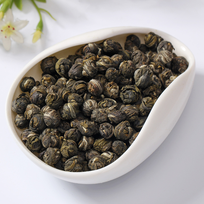 2020 Fresh Natural Organic Premium Chinese Jasmine Green Tea Jasmine Dragon Pearl Fragrance Slimming Flower Kung Fu Tea 2