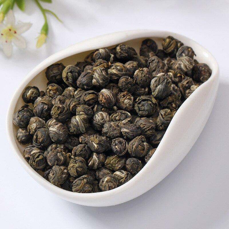 2020 Fresh Natural Organic Premium Chinese Jasmine Green Tea Jasmine Dragon Pearl Fragrance Slimming Flower Kung Fu Tea 2