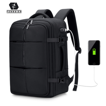 Fenruien Upgrade Men Backpack 17.3 Inch Laptop Backpacks USB Charging Waterproof Multilayer Large capacity Travel Bag Anti-thief fenruien brand 17 inch laptop backpack men usb charging travel backpacking school bag nylon waterproof anti theft backpacks