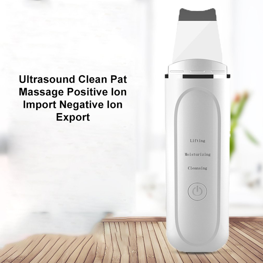 Beauty Equipment Pore Cleansing Care White Usb Scraper Cleansing Machine To Black Shovel Dead Skin Machine