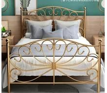 Avrupa tarzı altın web ünlü kalın demir yatak 1.2m 1.5m 1.8m tek çift ana yatak