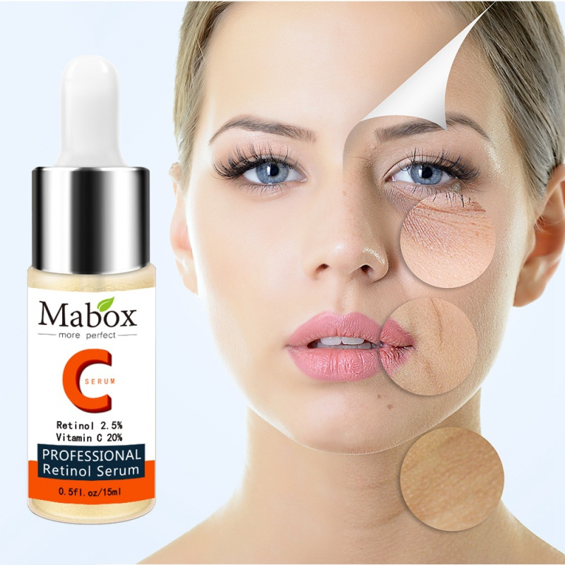 15ml New Vitamin C Retinol Whitening Serum Face Skin Care Treatment Anti-Wrinkle Moisturizers Essence Beauty