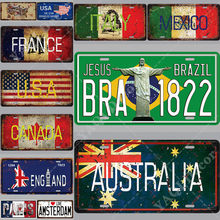 Rust Wall Country Metal Sign Tin Sign Licenses Plate Decor Plaque Metal Vintage Man Cave Bar Pub Club Decoration 30*15cm