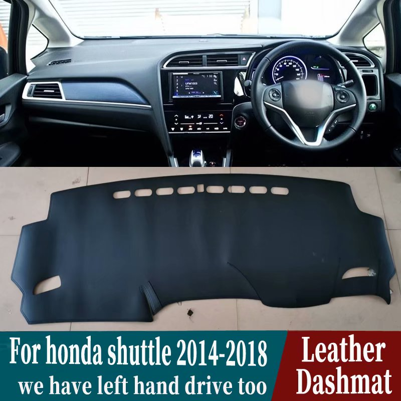 For Honda Fit Shuttle Wagon Gk8 2014 2015 216 2017 2018 2019 Leather Dashmat Dashboard Cover Pad Dash Mat Carpet Car-Styling RHD