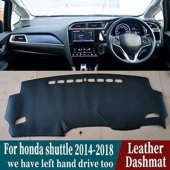 For Honda Fit Shuttle Wagon Gk8 2014 2015 216 2017 2018 2019 Leather Dashmat Dashboard Cover Pad Dash Mat Carpet Car-Styling RHD