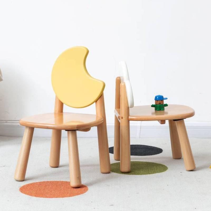 Детская мебель Solid Wood Children's Chair Environmental Protection Student Writing European Beech Backrest Simple Study Stool