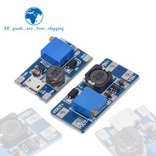 Tzt mt3608 DC-DC step up conversor impulsionador módulo de fonte de alimentação boost step-up placa de saída máxima 28v 2a kit diy