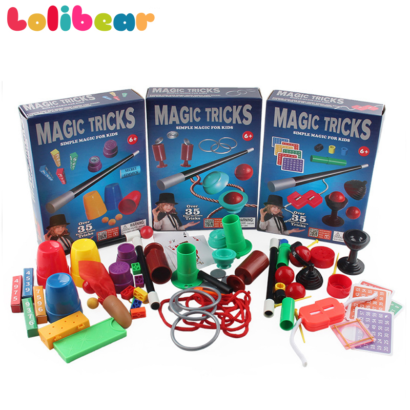 Magic Kit Set With Instruction Manual(not Include Box) Magic Tricks Close Up Magia Puzzle Simple Gimmick Props Toys For Kids