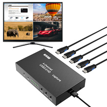 Box Ezcap Live-Streaming PC HD 1080P 4x1 264 4-Channel Video-Capture-Card Game-Recording