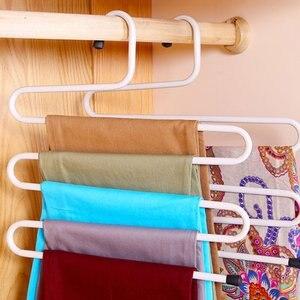 Metal Magic Pants Hanger Space Saver Rack Jeans Scarf Tie Closet Tool Popular New