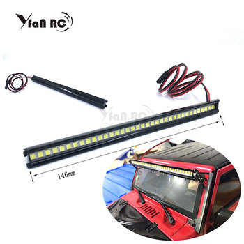 1/10 RC Car 36 LED Light Bar 36 Leds for  Trx-4 Trx4 Axial SCX10 90046 D90 RC Rock Crawler Truck Body Shell Roof Lights yfan rc 2019 new car body cab with back half cage for 1 10 rc crawler trx4 axial scx10 90046 car shell