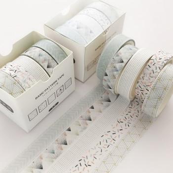 5 Pcs/Set Pine Fog Bullet Journal Washi Tape Scrapbooking DIY Adhesive Tape Sticker Label Masking Tapes Washitape