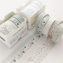 5 шт./компл. Pine Fog Bullet Journal Васи Лента Скрапбукинг клейкая лента для поделок наклейка этикетка Маскировочные ленты