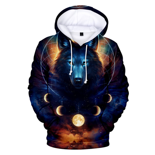 New Wolf 3D Printed Hoodies Men Women Boys Shinning Wolf Design Hoodie Sweatshirts Fashion Harajuku Jacket Coat Brand Clothes 8
