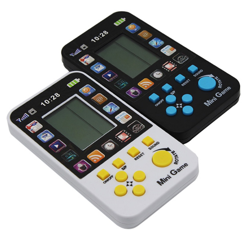 Children's Classic Games Small Tetris Handheld Game Player Console Kids Electronic Pocket Toy