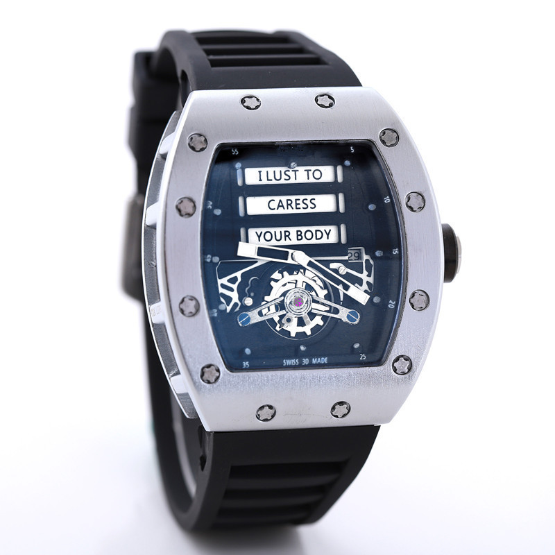 Top Brand RM 1: 1 Same Quartz Mechanical Watchs Mille Men's Watches Luxury Richard Wristwacth Relogio Masculino Water Resistant