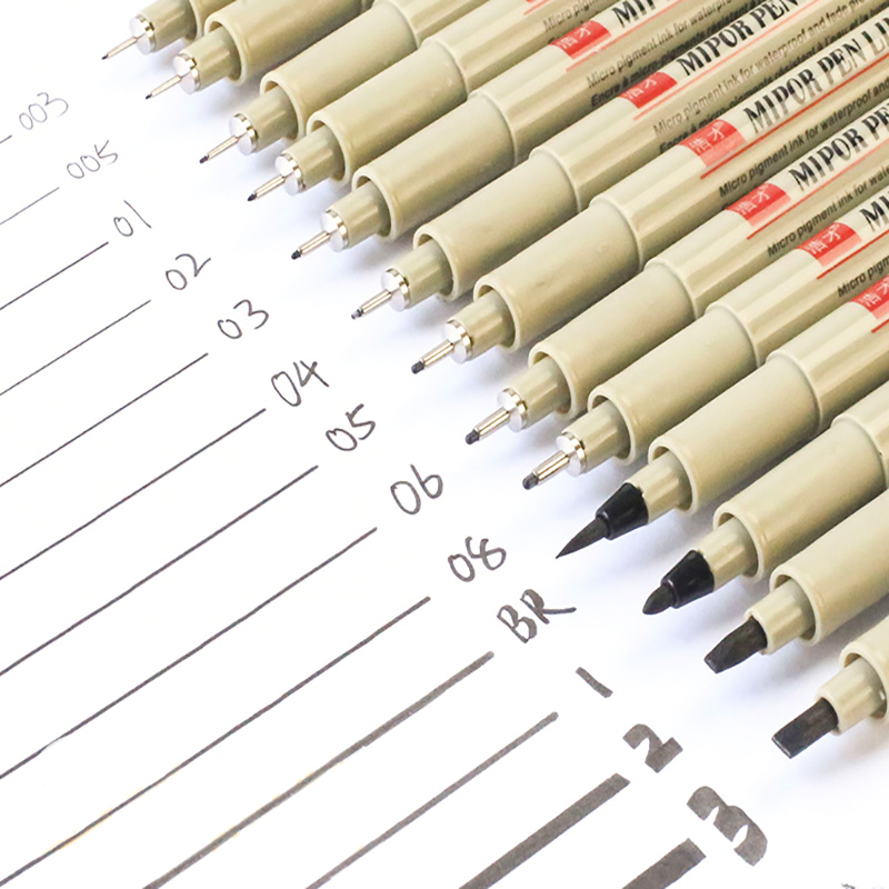 1 Pcs Balck Pigma Micron Pen Liners For Drawing Needle Sketching Markers Fineliner Comic Art  School Stationery Supplies 2021