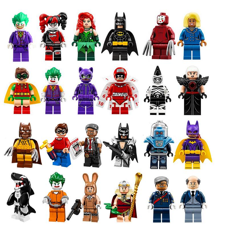 Building Blocks Super Heroes Joker Catwoman Poison Ivy Batman Robin Calendar Legoed People Quinn Bricks Toys For Children PG8032